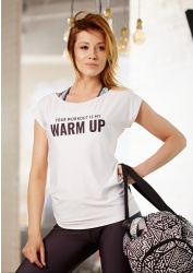 T-SHIRT TRENINGOWY YOUR WORKOUT IS MY WARM UP